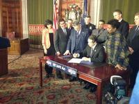 Governor Cuomo signs gun control bill into law Jan. 15, 2013