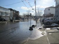Flooding is common in the Midland Beach bowl even during non-hurrciane events. This street was impassable by pedestrians after the snow that fell in Feburary melted.