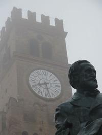 Verdi Statue in from of the City Hall in Busseto, Italy