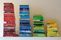 physical histogram of books
