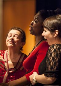 Singers Ileana  Cotrubas with Omo Bello and Jennifer Jakob