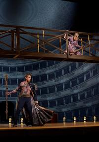Simon Keenlyside as Prospero and Audrey Luna as Ariel in Thomas Adès's 'The Tempest'