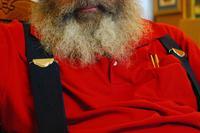 Santa Claus pondering Christmas