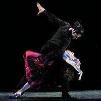 Dancers accompanying the Romulo Larrea Tango Ensemble