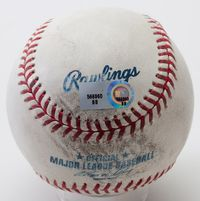 The baseball from Alex Rodriguez's 500th home run was auctioned for $103,579 in 2010.