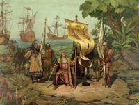 L. Prang & Co., Boston: 'Christoper Columbus arrives in America' (1893)