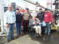 John Hockenberry with Halibut Fishermen