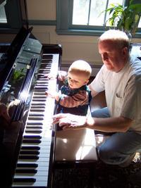 piano, baby