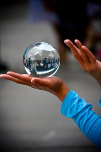 crystal ball, shot in London