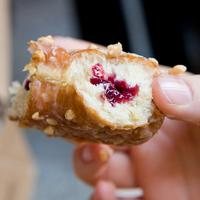 A peanut butter and jelly doughnut from Doughnut Plant