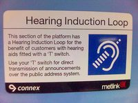 Hearing Induction Loop sign