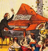 Franz Liszt performs in Berlin