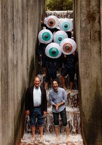 Jad and Robert in Portland with Pilobolus dancers