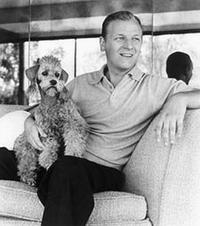 Les Baxter and his poodle
