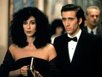 Loretta (Cher) meets Ronny (Nicholas Cage) for a dream date at the Metropolitan Opera  in 'Moonstruck'