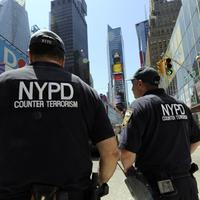 New York City Police Department Counter Terrorism Unit officers patrol in Times Square on May 5, 2010. US officials Wednesday ratcheted up security in the wake of the botched Times Square bomb plot