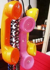 Colorful phone receivers