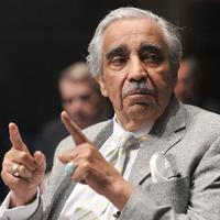 New York's Rep. Charles Rangel chats before the House Democratic Caucus retreat on January 14, 2010.