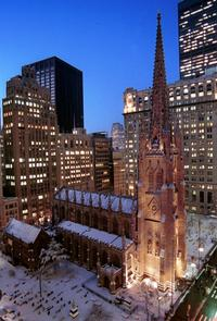 Trinity Church in the snow