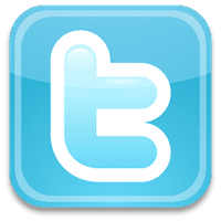 small square twitter logo social networking