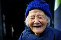 no eyes laughing granny