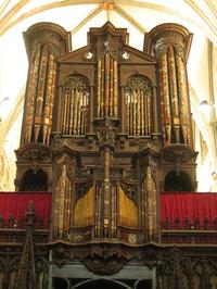 1898 Henry Willis organ at the Gloucester Cathedral in England.