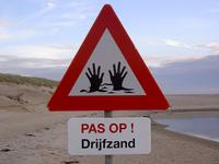 Quicksand sign