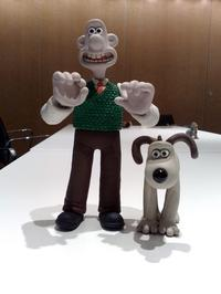 Wallace and Gromit figurines, from Aardman Animation