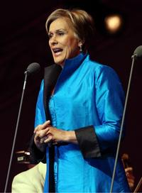 Dame Kiri Te Kanawa sings during the Tower Festival at the Tower of London on September 16, 2009 in London, England