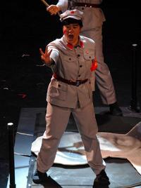 Karen Vuong as Zhou in the Juilliard Opera production of 'Kommiltionen!' (November 2011)