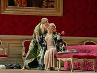Elīna Garanča as Octavian and Renée Fleming as the Marschallin in Strauss' 'Der Rosenkavalier.'
