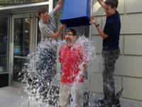 WQXR host Jeff Spurgeon takes the ice bucket challenge