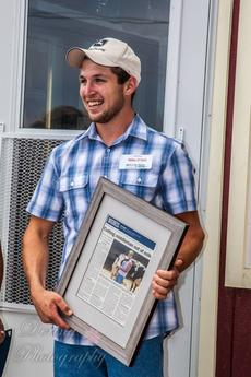 Mike O'Dell, the youngest dairy farmer in Orange County, NY.