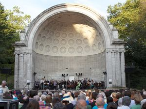 The Knights in the Naumburg Bandshell in Central Park on July 10, 2012.