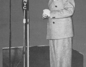 Robert White at age 9, singing on WNYC.