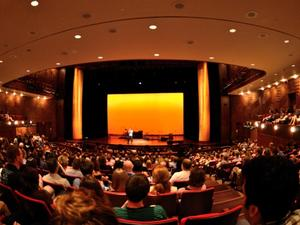 Audience at Curious Sounds concert at NYU Skirball Center