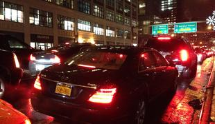 Traffic outside the Holland Tunnel. NJ Legislators are now looking into Gov. Christie's toll hikes at crossings into NY.