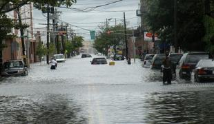 Photo Caption: On August 27, 2011, Hurricane Irene struck Newark with full force. Here, flooding affects a portion of South Street in the East Ward.