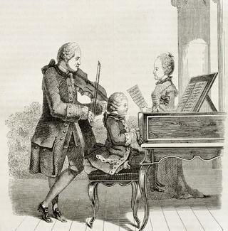 Mozart as a child prodigy