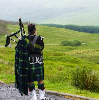 A Scottish Bagpiper