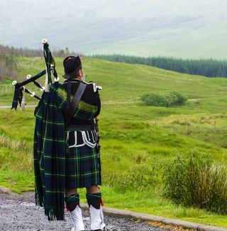 A Scottish Bagpiper