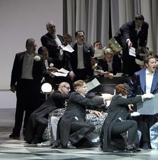Piotr Bezcala stars as Riccardo in 'Un Ballo in Maschera' at the Bavarian State Opera.
