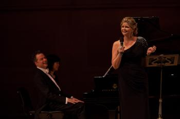 Susan Graham accompanied by Bradley Moore on piano.