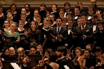 Soloists Diana Damrau (soprano),  Kate Lindsey (mezzo-soprano),  Piotr Beczala (tenor) and René Pape (bass).