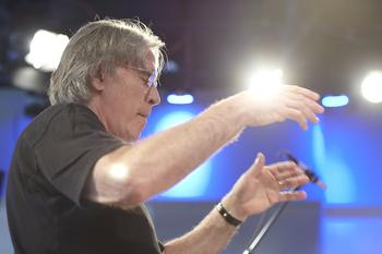 Musical director Michael Riesman.