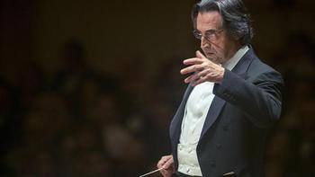 Chicago Symphony Orchestra music director and conductor Riccardo Muti.