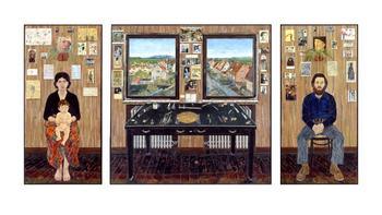 Simon Dinnerstein: The Fulbright Triptych, 1971-74 , oil on wood panels