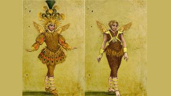 Ariel costumes designed by Kevin Pollard for <em>The Enchanted Island</em>.