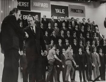 The Yale Glee Club appears on The Ed Sullivan Show in 1969.