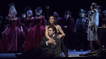 """Joseph Calleja as Hoffmann and Kate Lindsey as the Muse in Offenbach's """"Les Contes d'Hoffmann."""""""